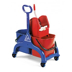 Chariot lavage FRED 2 x 15 litres Timon latéral + presse