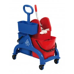 Chariot lavage FRED 2 x 15 litres Timon latéral + presse + panier