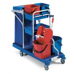 Chariot ménage lavage MORGAN avec couvercle et presse R100
