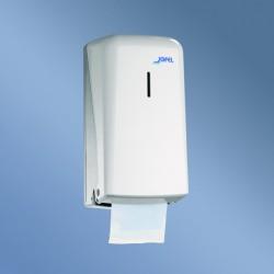 Distributeur papier WC 2 petits rouleaux ABS blanc