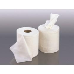 Bobine essuyage lisse 200 formats 2 plis - dévid. central - 1 x 12 unités