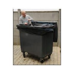 Housse container 240L noir 35µ  1 x 100 unités