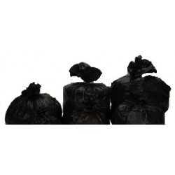 Sac poubelle 150L noir 75µ  1 x 100 unités