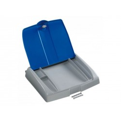 Couvercle poubelle 150L BLEU avec porte protocole