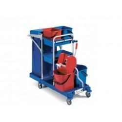Chariot ménage lavage MORGAN avec couvercle et presse R125